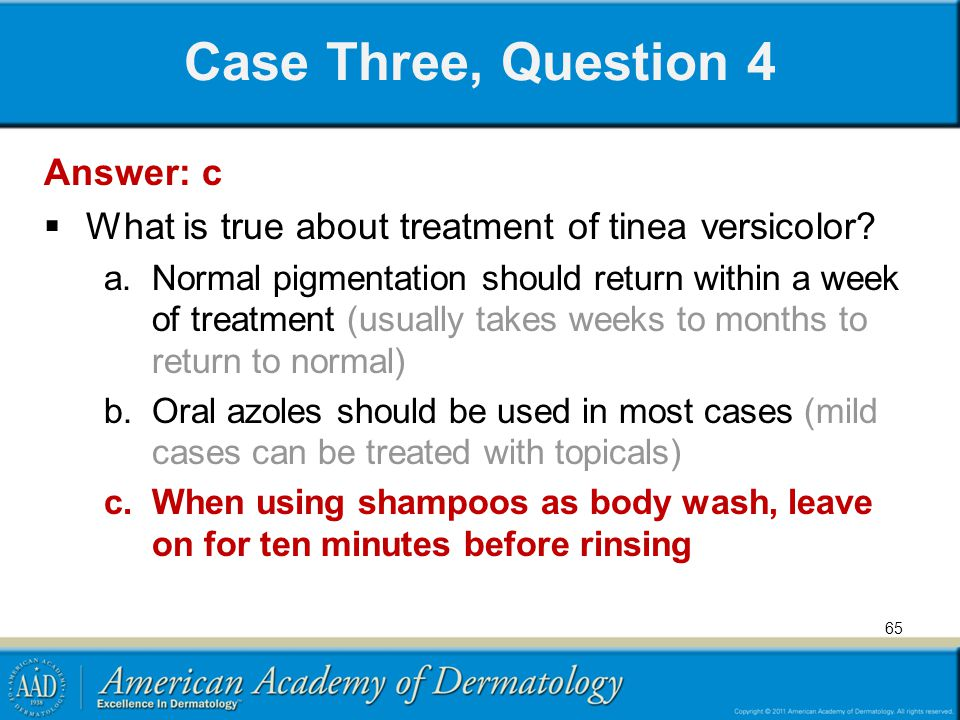 Case Three, Question 4 Answer: c