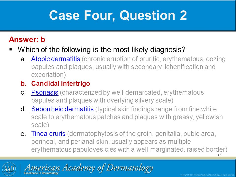 Case Four, Question 2 Answer: b
