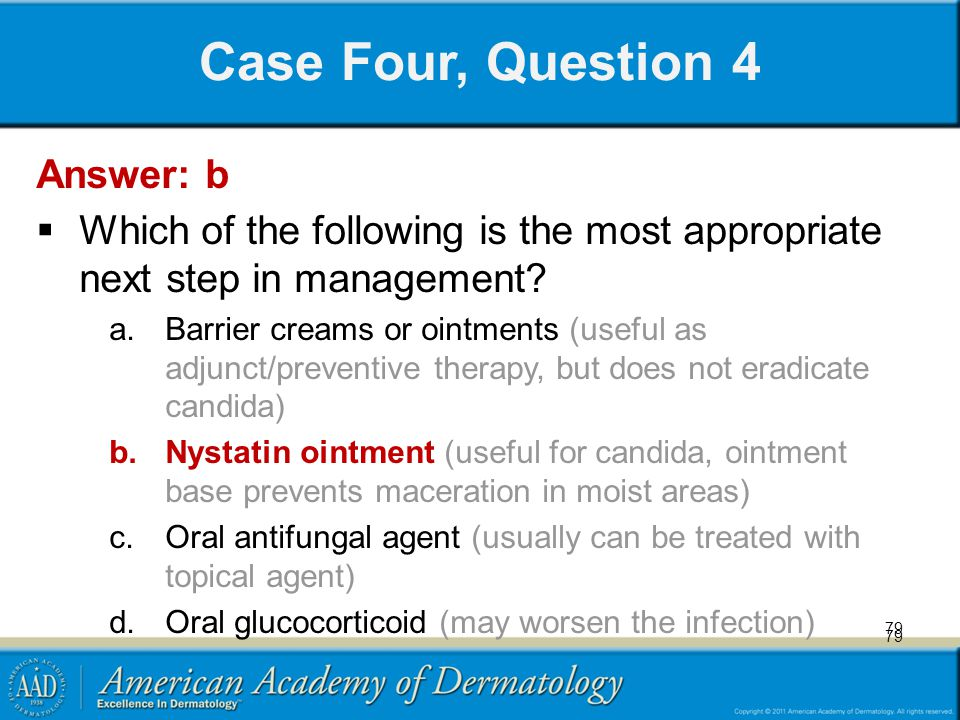 Case Four, Question 4 Answer: b