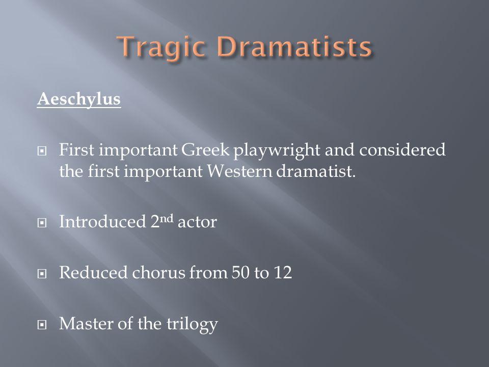 Tragic Dramatists Aeschylus