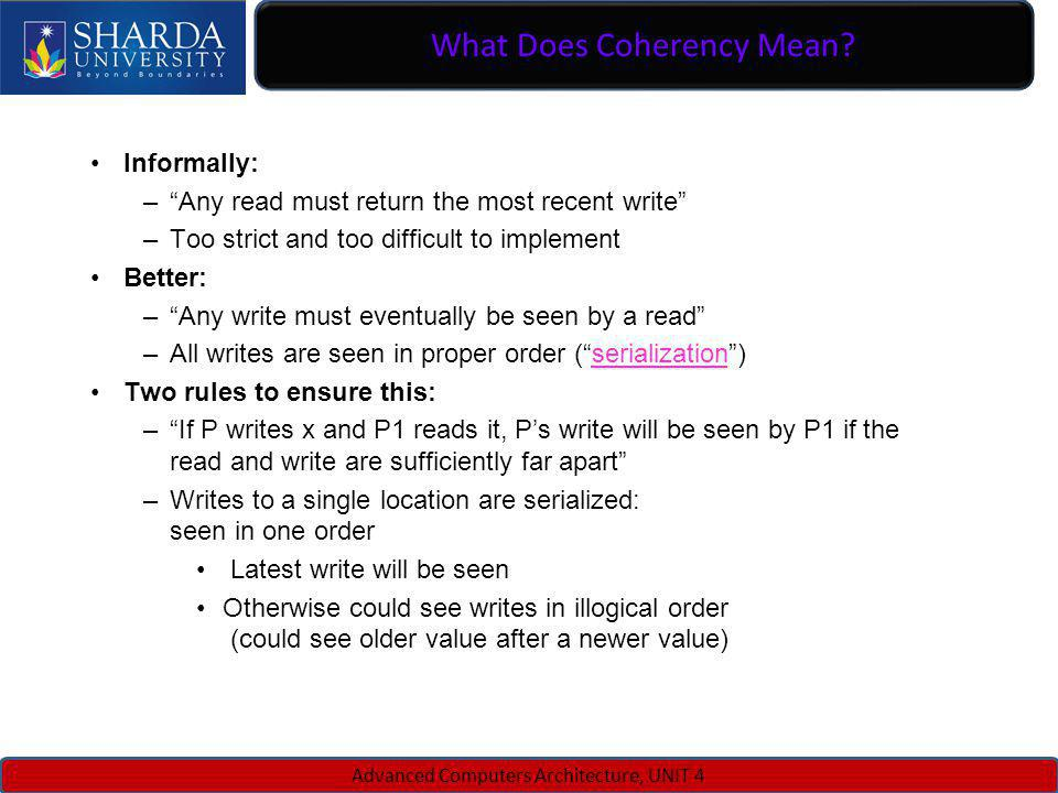 What Does Coherency Mean