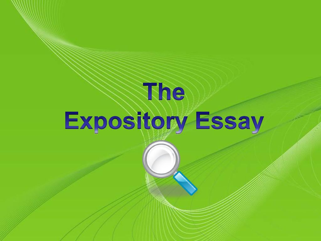 The Expository Essay Powerpoint Templates