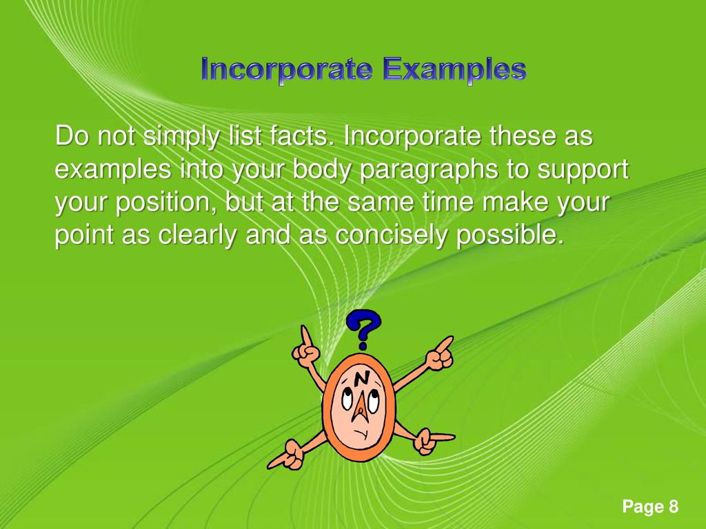 Incorporate Examples