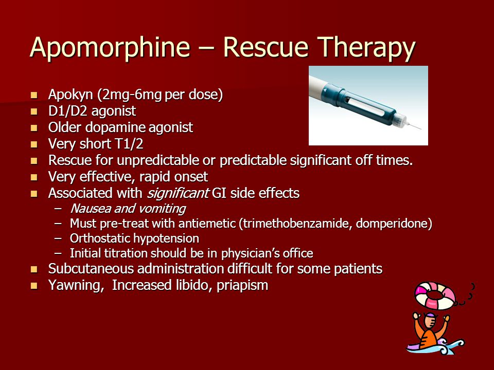 Apomorphine – Rescue Therapy