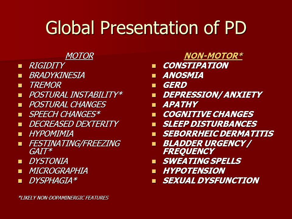 Global Presentation of PD