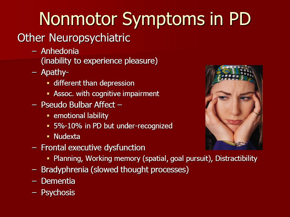 Nonmotor Symptoms in PD