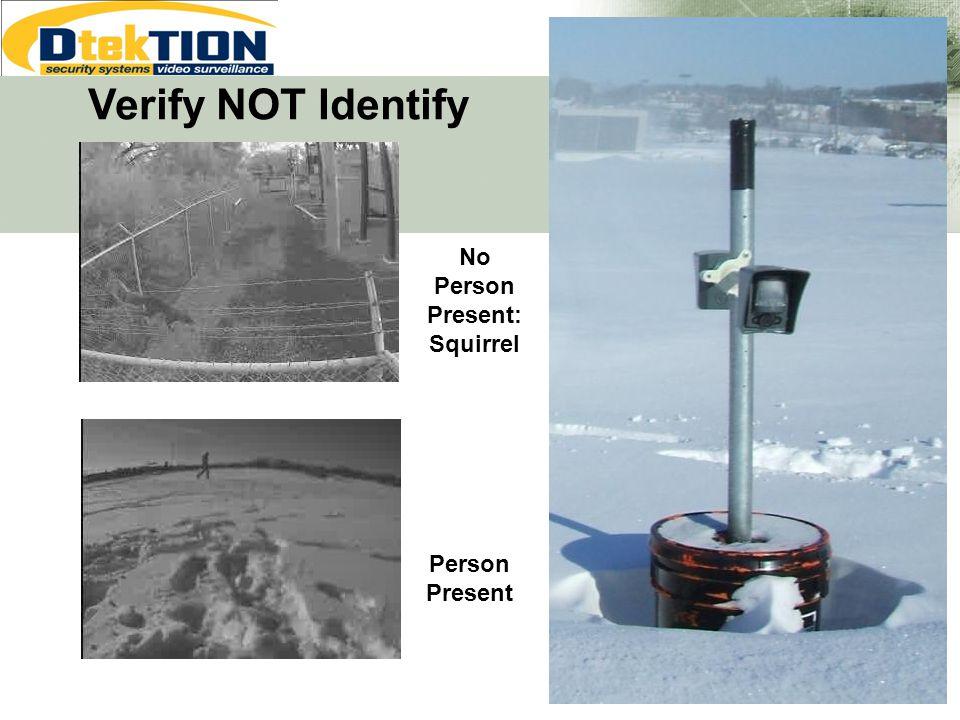 Verify NOT Identify No Person Present: Squirrel Person Present