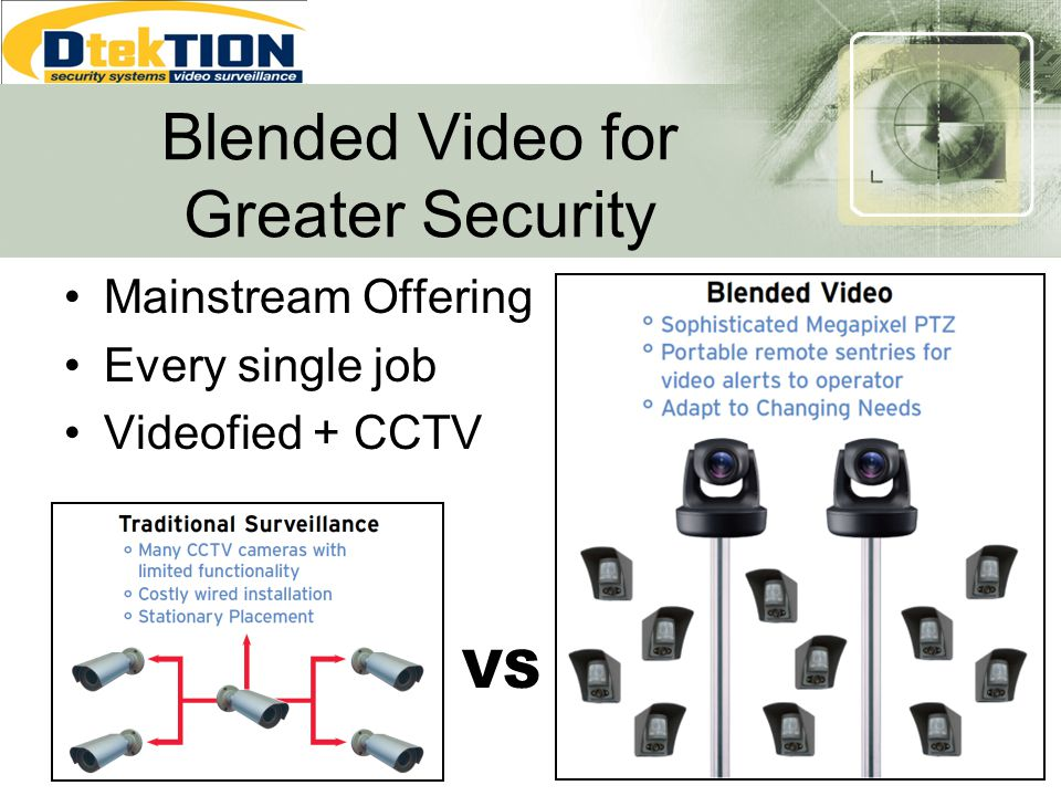 Blended Video for Greater Security