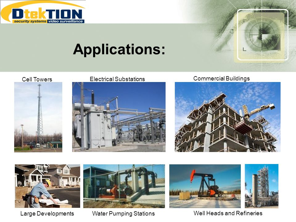 Applications: Cell Towers Electrical Substations Commercial Buildings