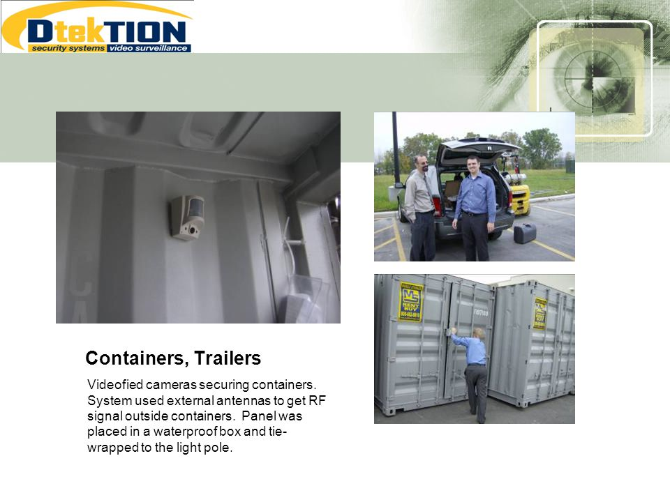 Containers, Trailers