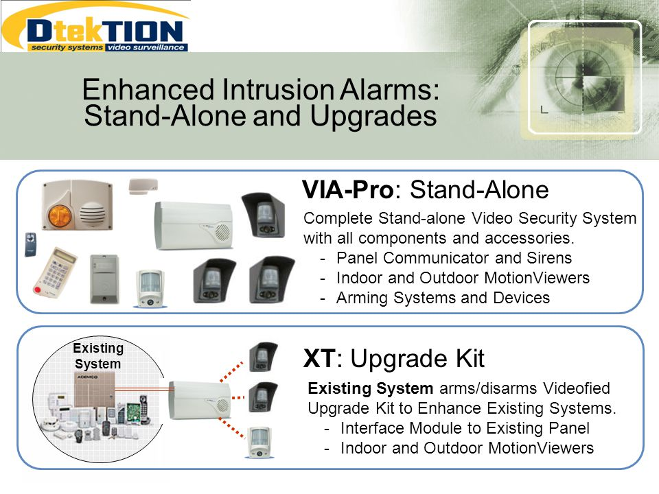 Enhanced Intrusion Alarms: Stand-Alone and Upgrades