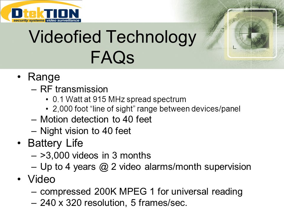 Videofied Technology FAQs