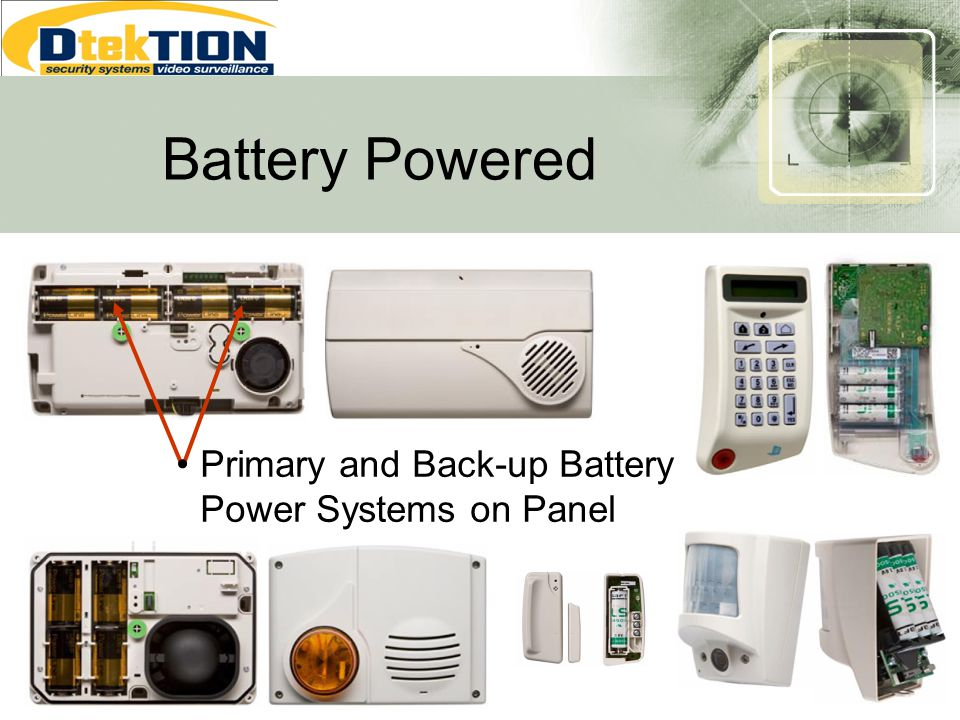 Battery Powered Primary and Back-up Battery Power Systems on Panel