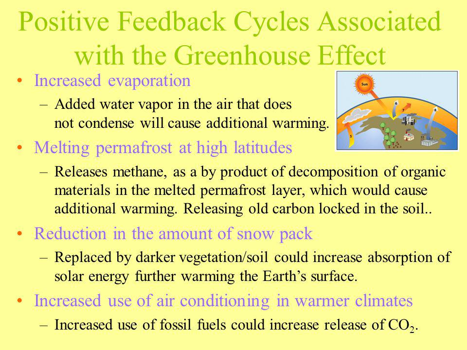 Positive Feedback Cycles Associated with the Greenhouse Effect