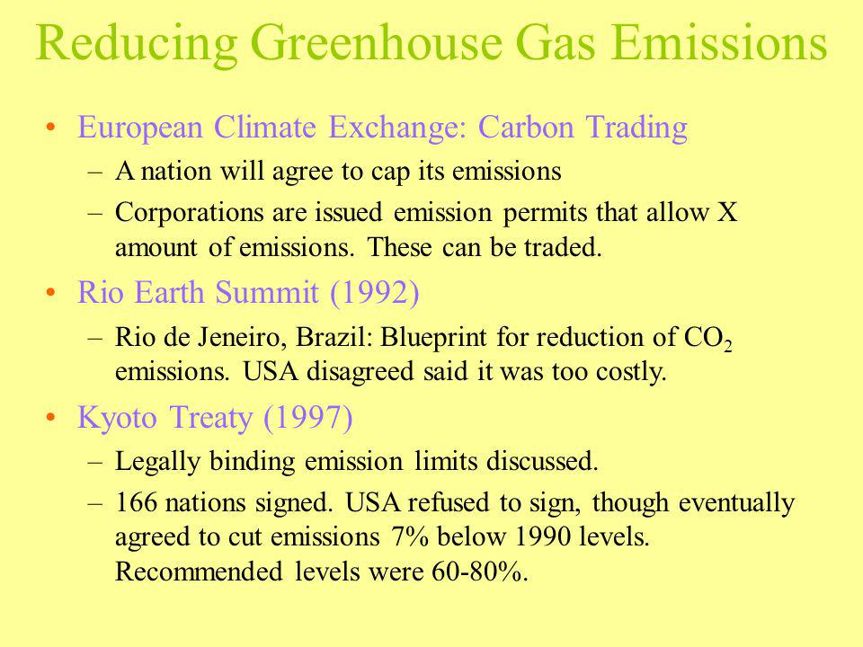 Reducing Greenhouse Gas Emissions