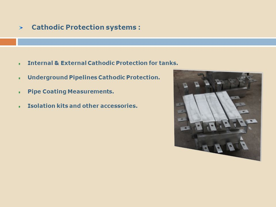 Cathodic Protection systems :