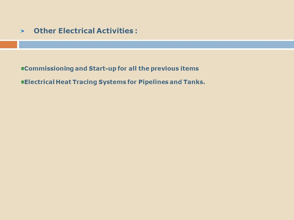 Other Electrical Activities :
