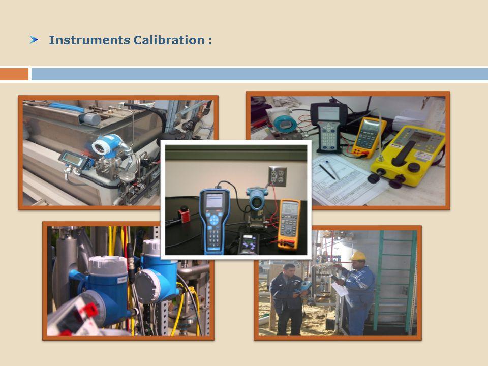 Instruments Calibration :
