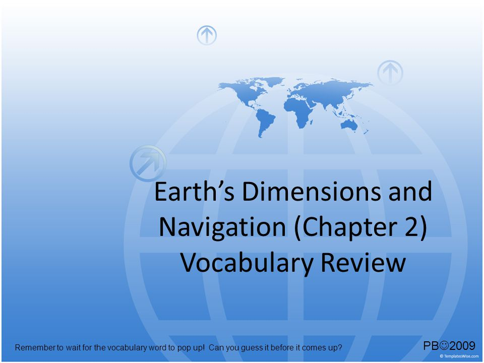 Earth's Dimensions and Navigation (Chapter 2)