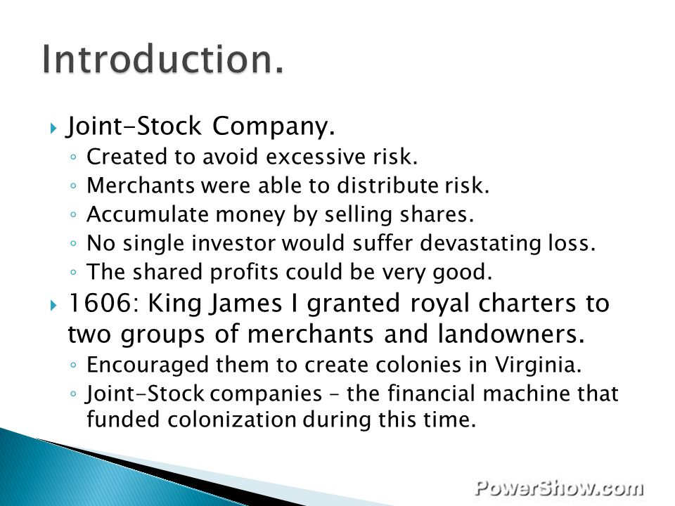 Introduction. Joint-Stock Company.