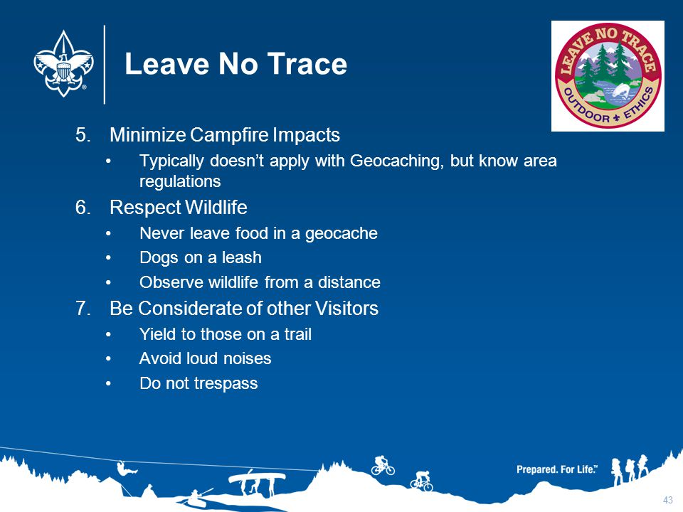 Leave No Trace Minimize Campfire Impacts Respect Wildlife