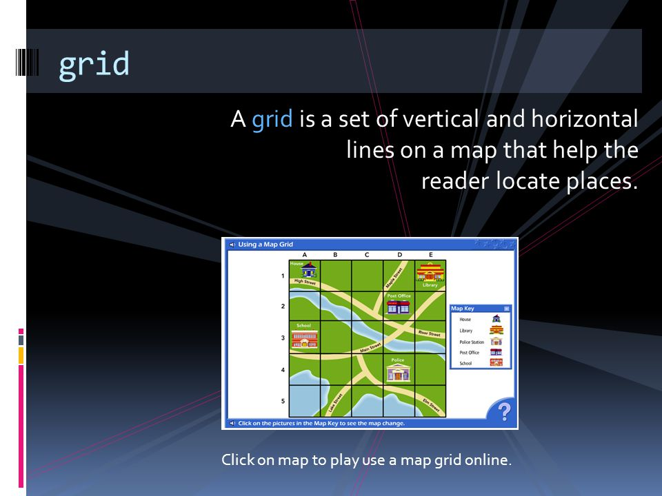 Click on map to play use a map grid online.