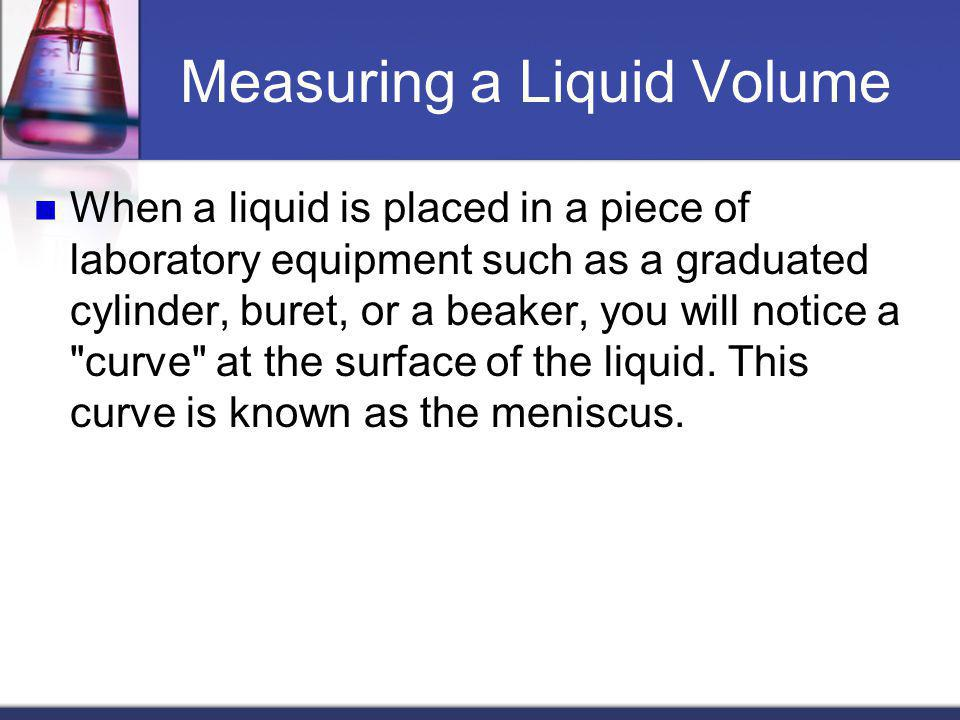 Measuring a Liquid Volume
