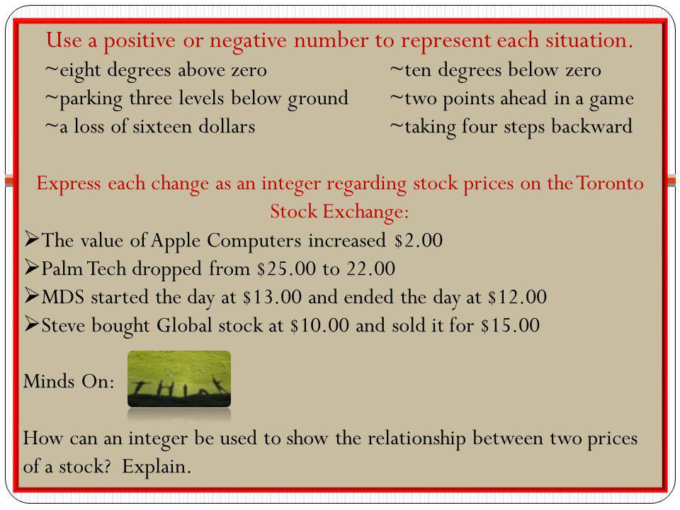Use a positive or negative number to represent each situation.