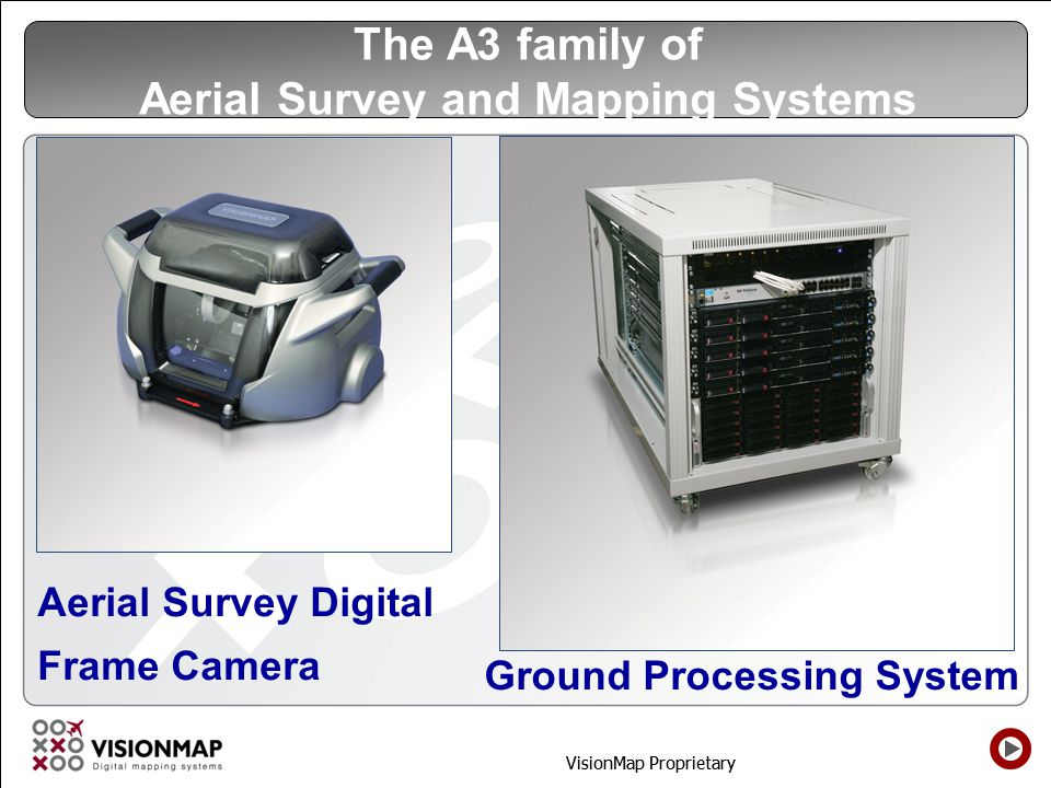 The A3 family of Aerial Survey and Mapping Systems