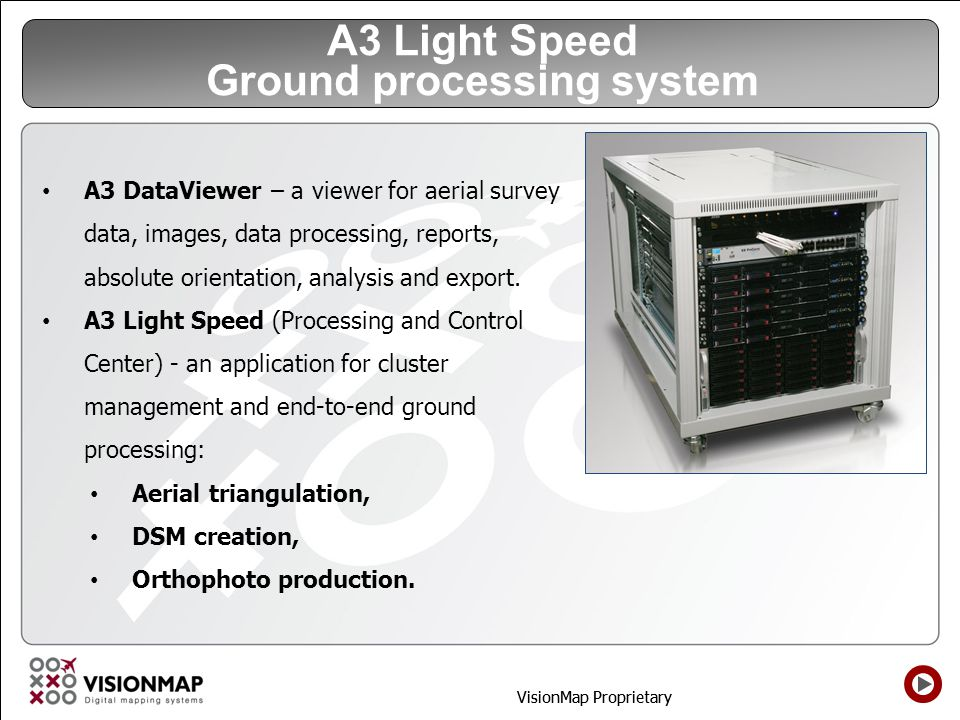 A3 Light Speed Ground processing system