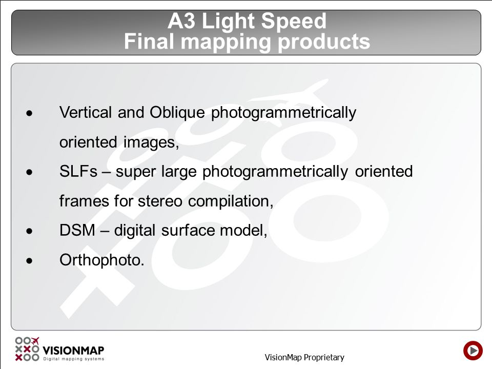 A3 Light Speed Final mapping products