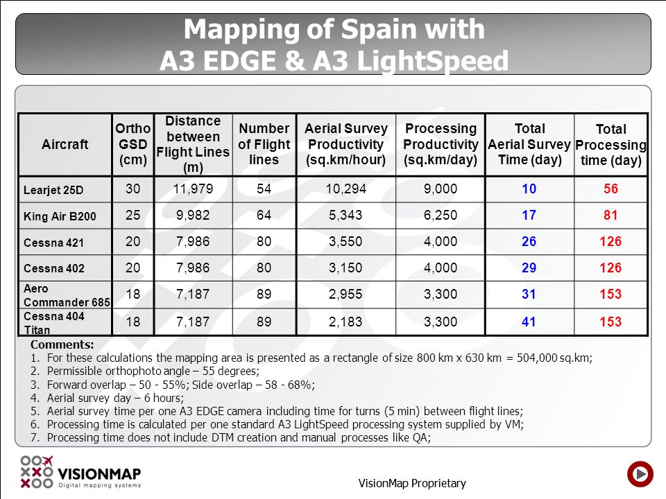Mapping of Spain with A3 EDGE & A3 LightSpeed
