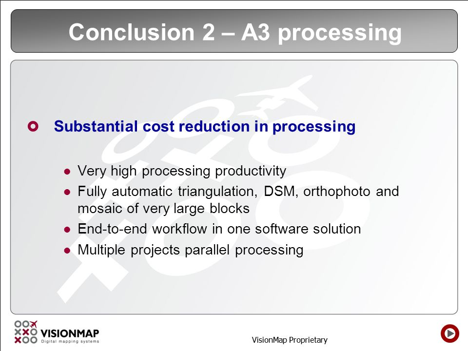 Conclusion 2 – A3 processing