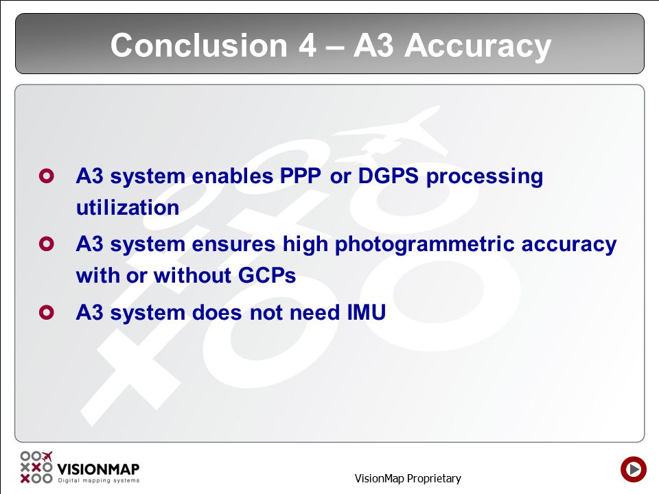 Conclusion 4 – A3 Accuracy