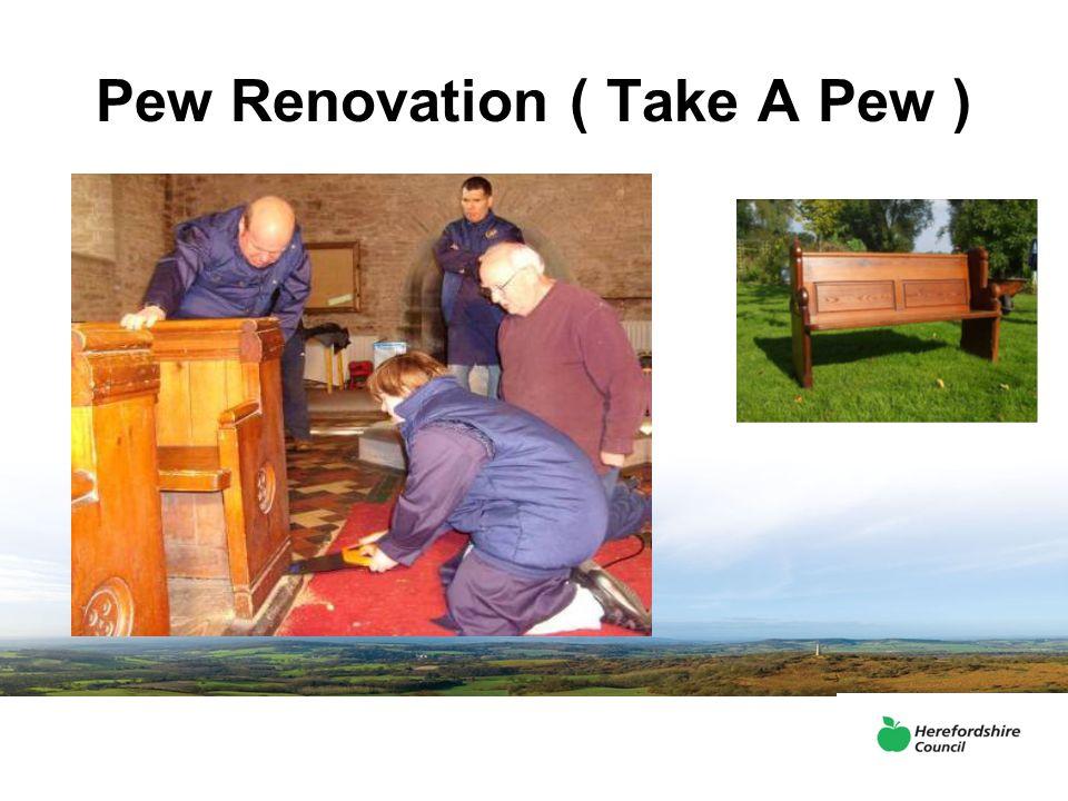 Pew Renovation ( Take A Pew )
