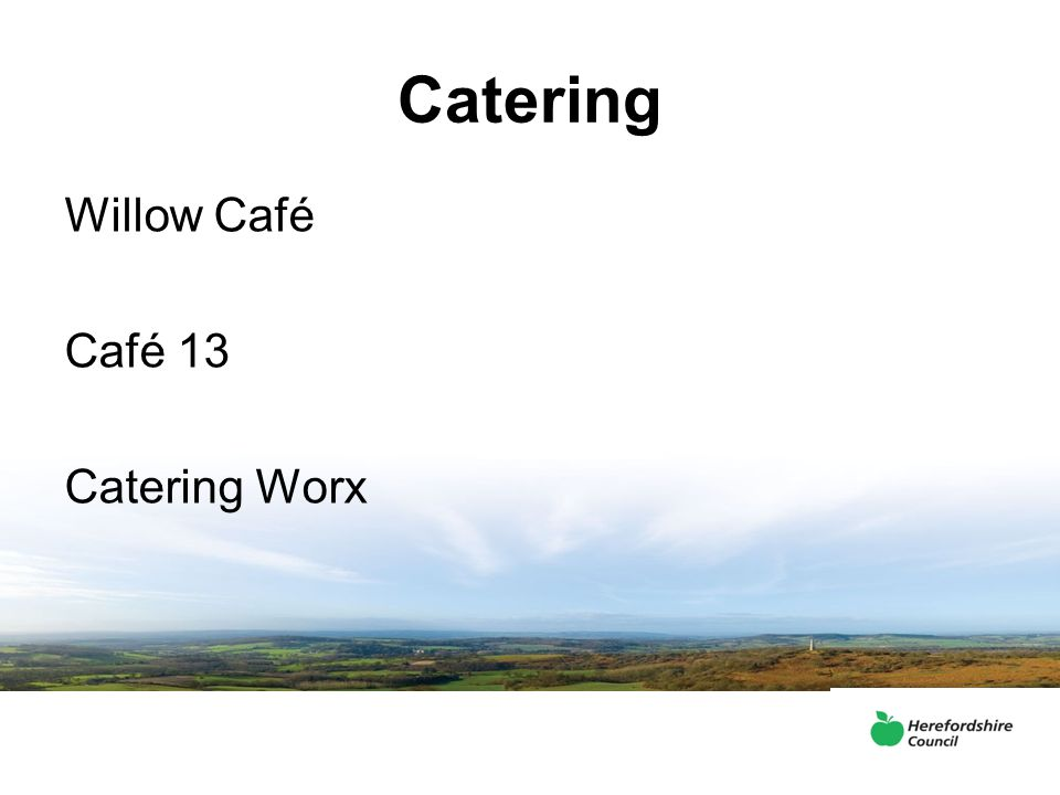 Catering Willow Café Café 13 Catering Worx