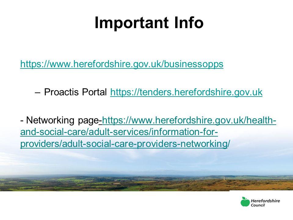 Important Info https://www.herefordshire.gov.uk/businessopps