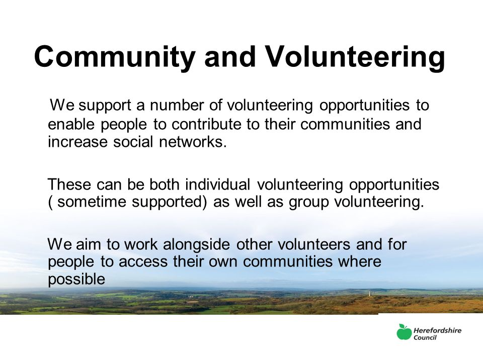 Community and Volunteering