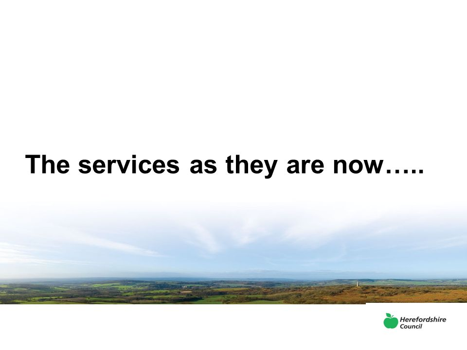 The services as they are now…..