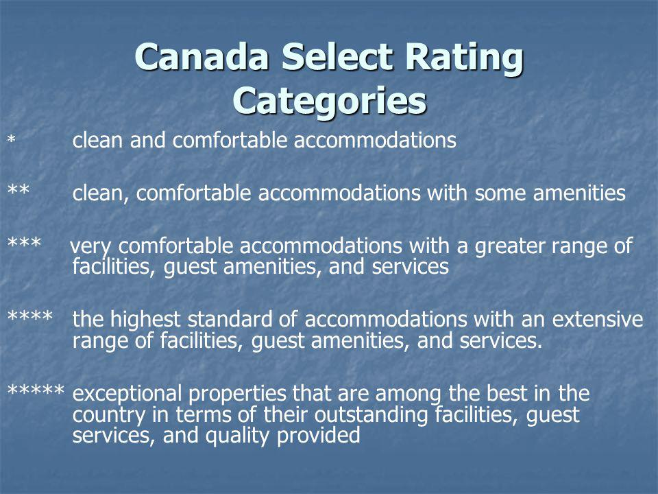 Canada Select Rating Categories