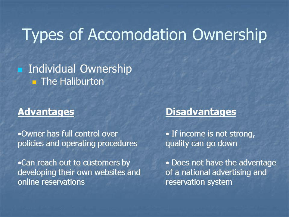 Types of Accomodation Ownership