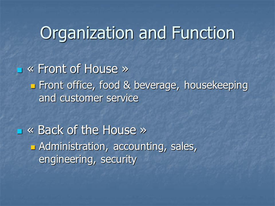 Organization and Function