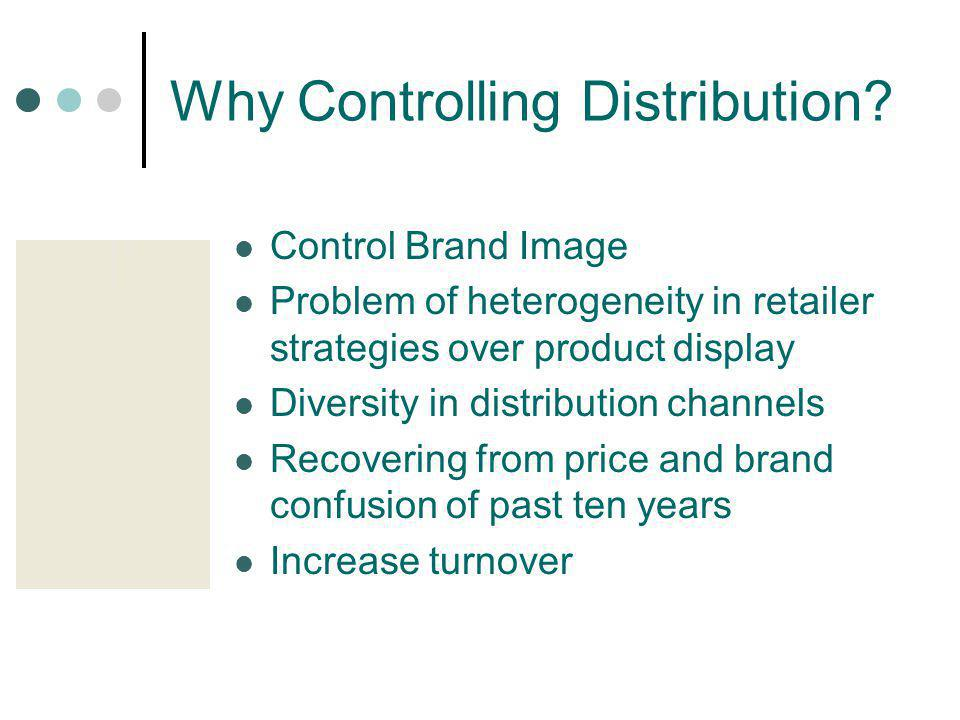 Why Controlling Distribution