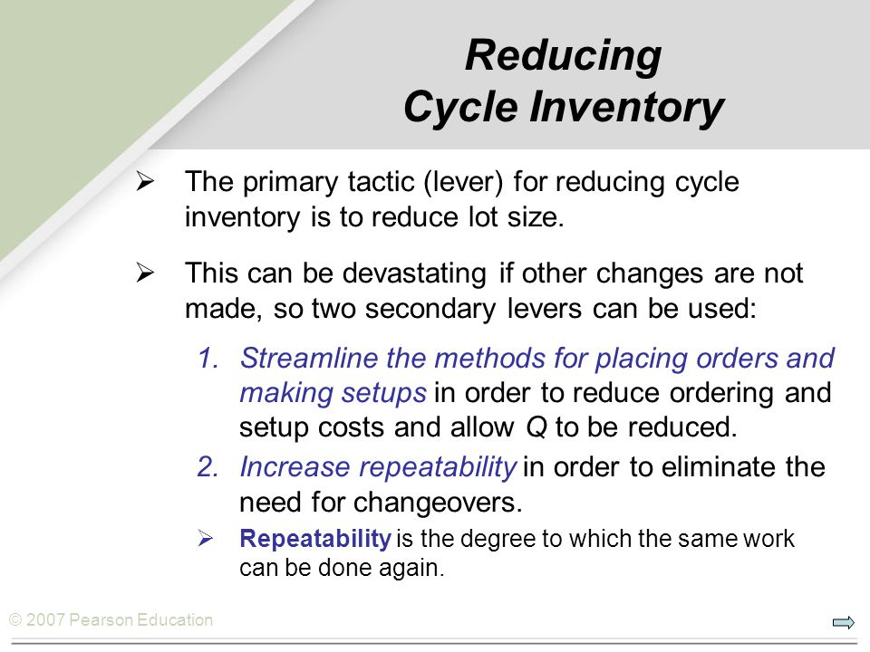 Reducing Cycle Inventory