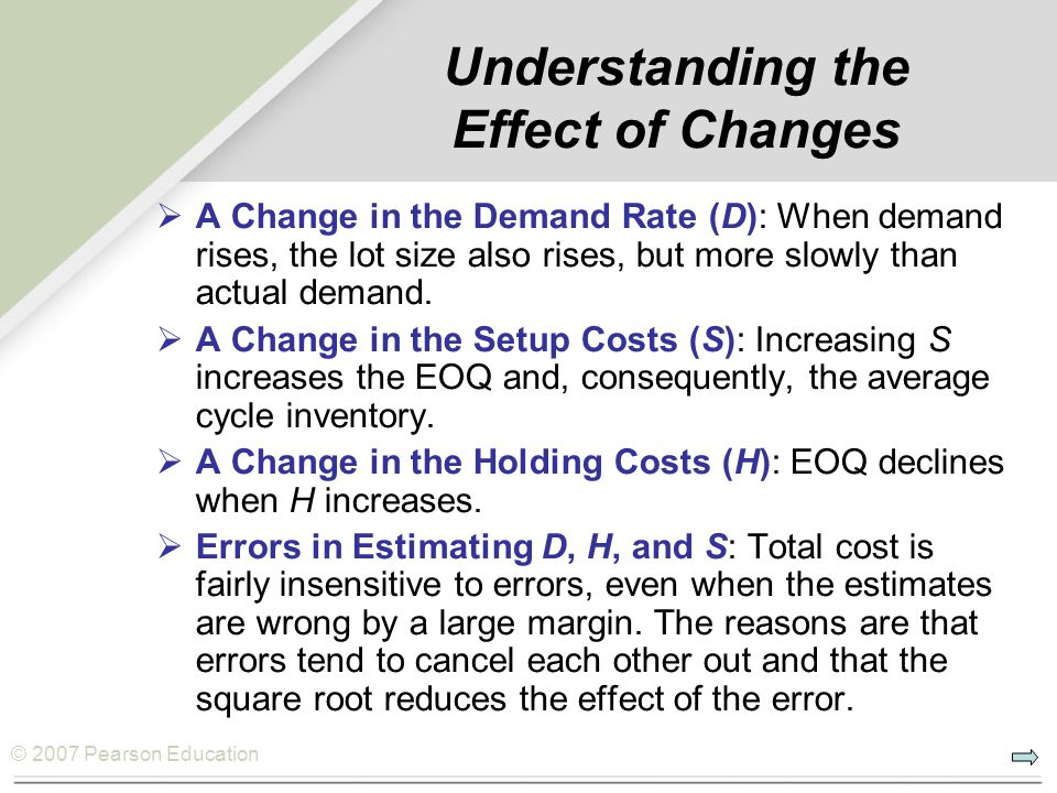 Understanding the Effect of Changes