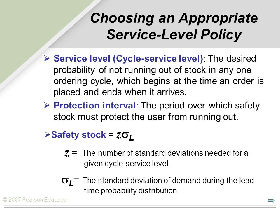 Choosing an Appropriate Service-Level Policy