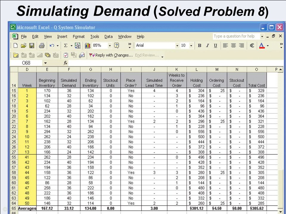 Simulating Demand (Solved Problem 8)