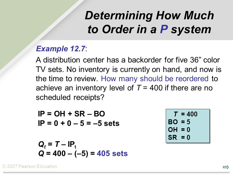 Determining How Much to Order in a P system