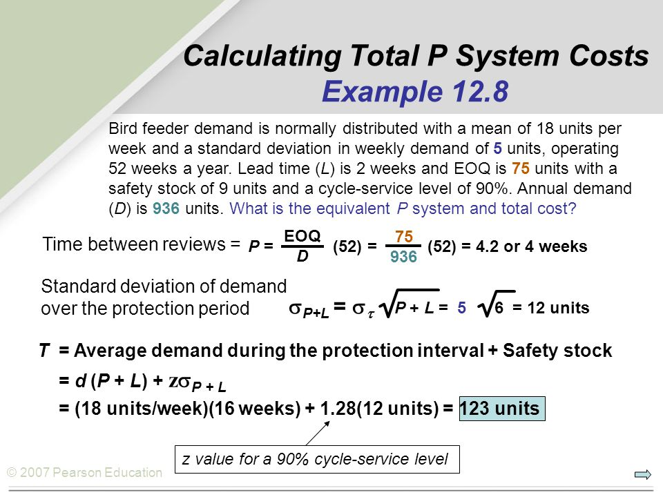 Calculating Total P System Costs Example 12.8