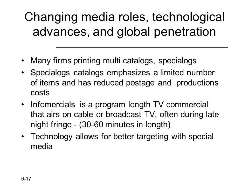Changing media roles, technological advances, and global penetration